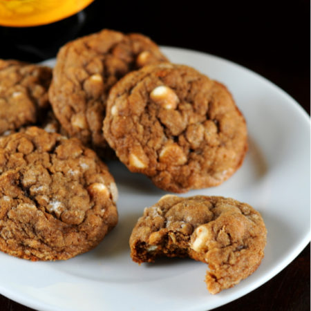 Image of Molasses Oatmeal White Chocolate Chip Cookies